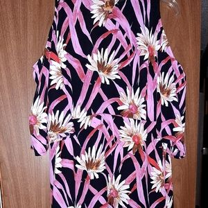 New womens dress size xl high low cold shoulder